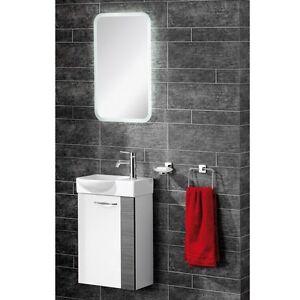 Fackelmann sceno waschtisch mit unterbau breite 45 cm led for Breite golf 6 mit spiegel