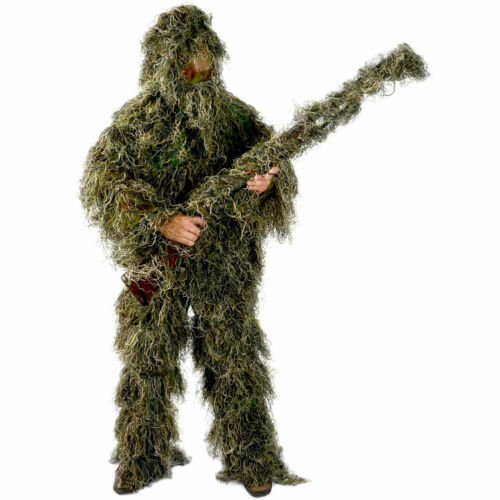 Ghillie Suit Men/'s  5 Piece Supreme Woodland Camo Ghillie Green