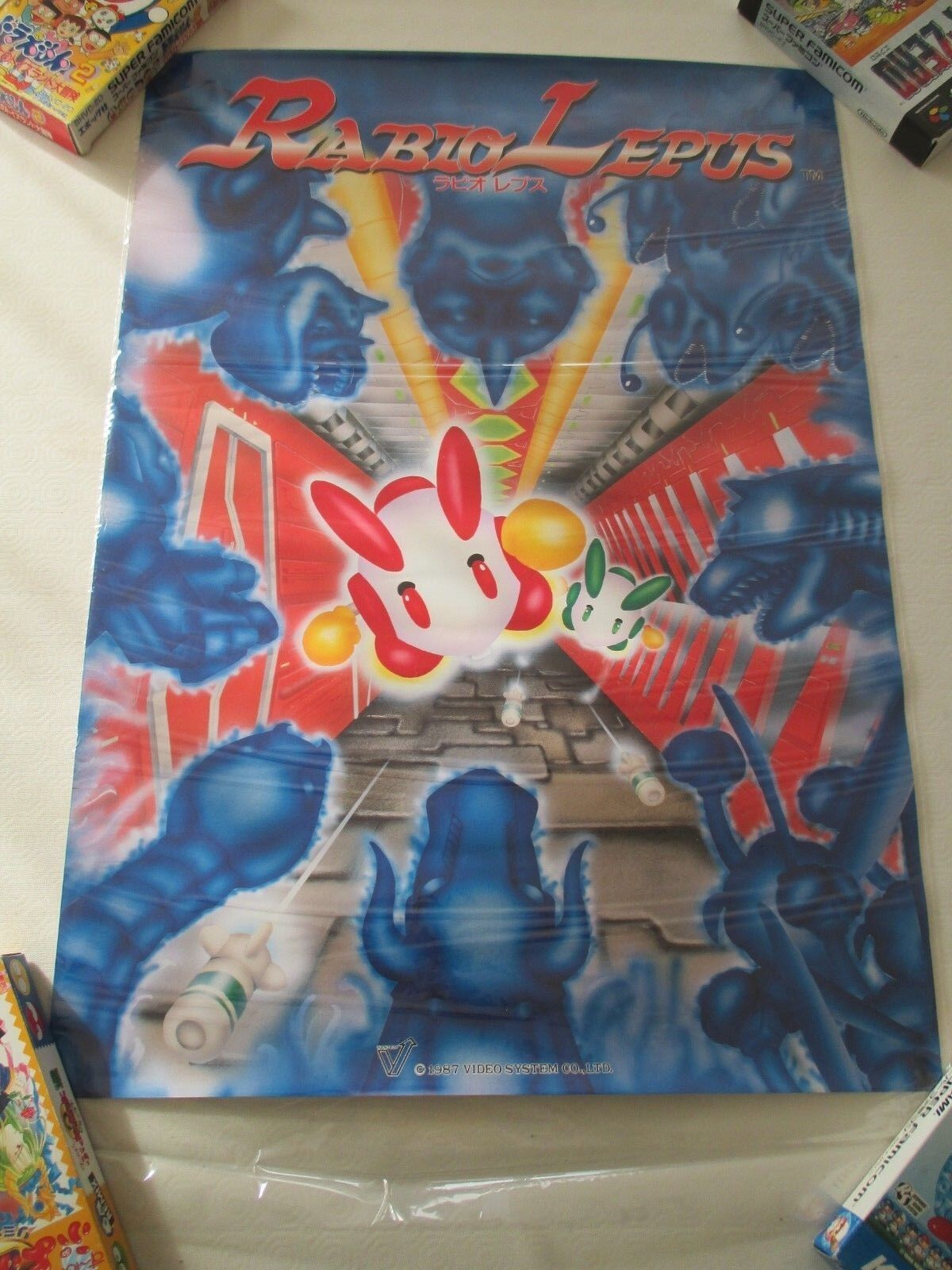 RABIO LEPUS SHOOT VIDEO SYSTEM ARCADE B2 Taille OFFICIAL ORIGINAL POSTER