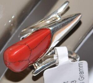 925 silber ring mit koralle unikat top preis garantie top damenring ebay. Black Bedroom Furniture Sets. Home Design Ideas