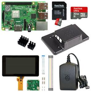 Raspberry-Pi-3-Model-B-plus-32GB-mit-7-034-mit-Touchscreen-u-Gehaeuse-schwarz