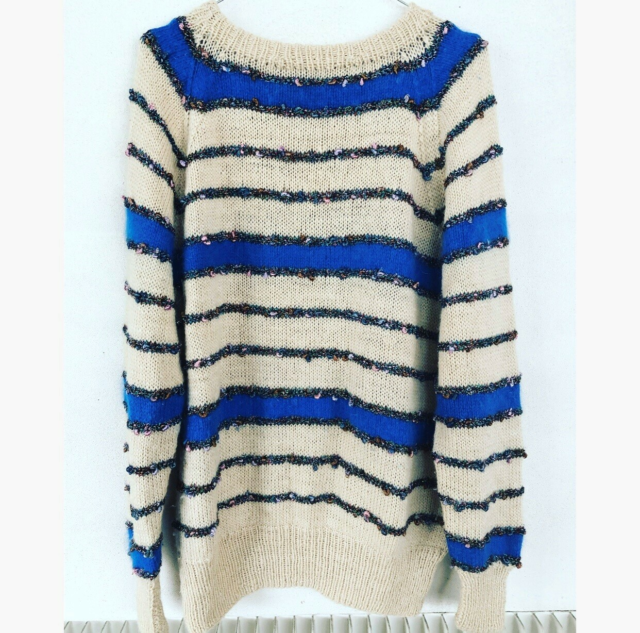 Sweater, Vintage, str. 38, Off White Royale Blue,…
