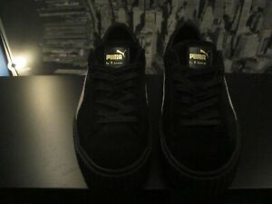 official photos 70841 2d783 Details about Puma X Fenty By Rihanna Suede Creepers Black Black White Size  10 Men's
