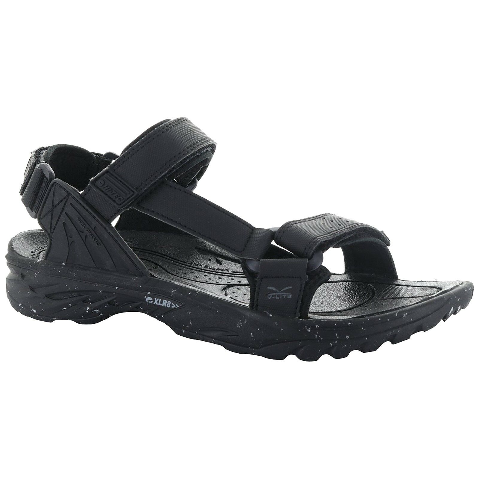 Herren HI-TEC WILD-LIFE VYPER BLACK LIGHTWEIGHT ADJUSTABLE WALKING STRAP WALKING ADJUSTABLE SANDALS f9a60c