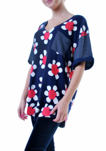 Wildfox Top 887797343684 £94 Oxford Tunic Women's S Rrp Size Shore Pop Bcf69 Flowers RwqaRfrX