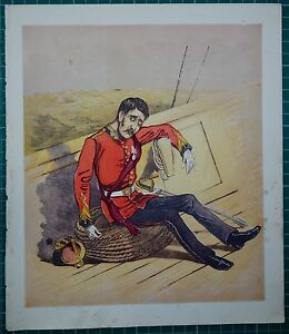 1876-VICTORIAN-MILITARY-PRINT-MARINES-COMIC-CARICATURE-DROLLERIES