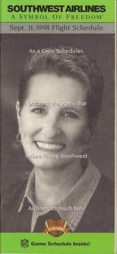 buy 4+ save 50/% 5112 Southwest Airlines system timetable 9//11//98