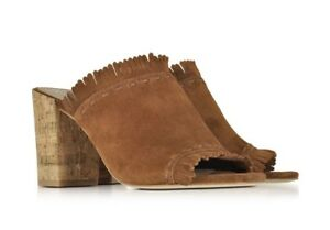 305c42945c977c NEW Tory Burch Huntington Brown Suede Women s High Heel Slip On Mule ...