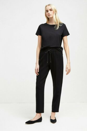 French Connection Womens Whisper Ruth Tailored Joggers//Trousers Black RRP £80.00