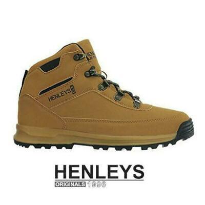 Henleys DLX Travis Men/'s Boots Walking Hiking Outdoor Casual Honey UK 7-UK 12