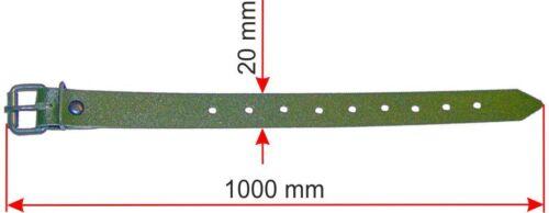Schnallriemen olivgrün mit geschweißter Rollschnalle PVC Plane Riemen Krampen