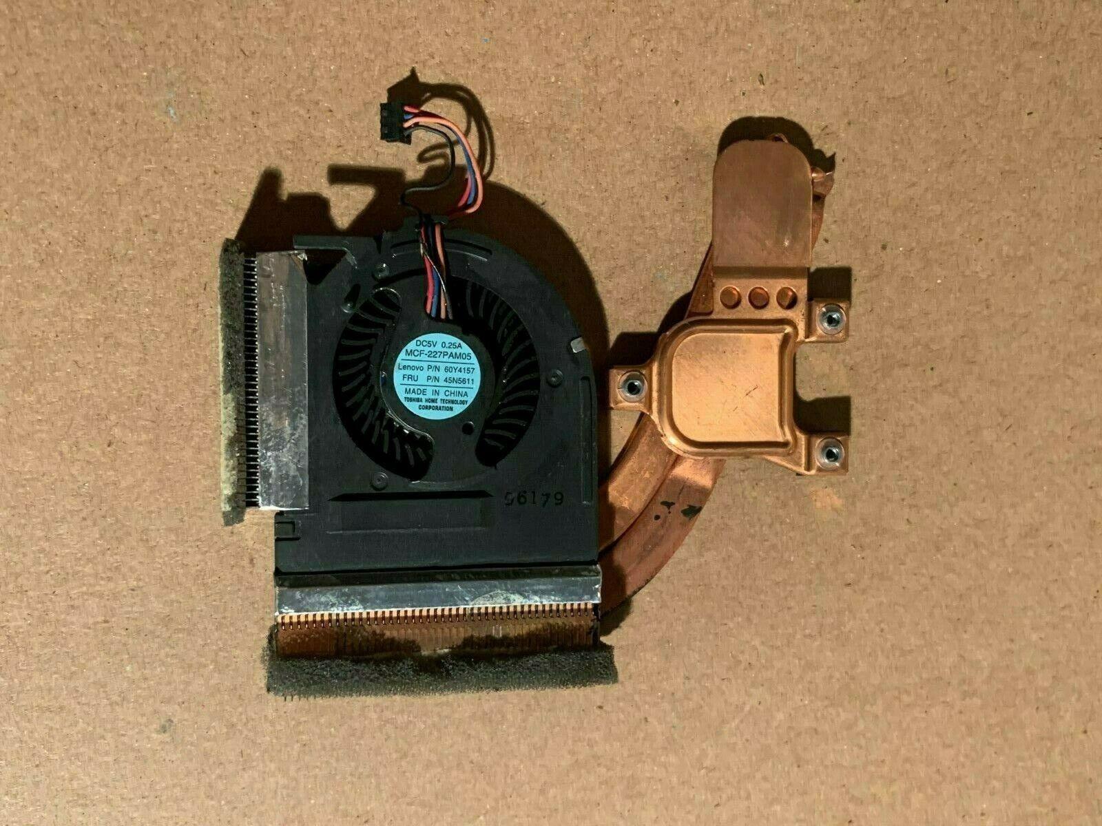IBM Lenovo Laptop CPU Heatsink Fan T400s T410s T410si FRU 45N5611 60Y4157