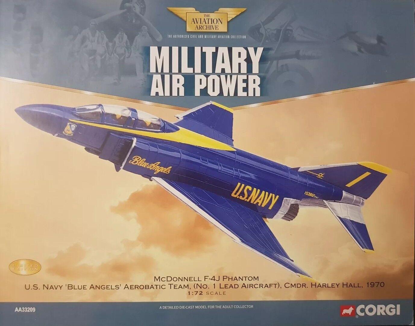 Corgi Aviation McDonnell F-4J Phantom US Navy  bleu Angels'S 1970 AA33209