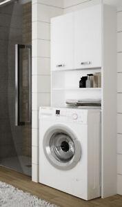 Fesselnd Das Bild Wird Geladen Badezimmer Schrank Hochschrank Waschmaschinen  Umbau 64cm Weiss Hochglanz