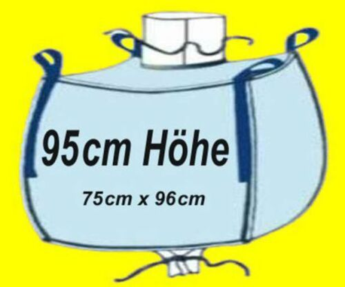☀️ 5 Stück Big Bag 95 cm hoch 75 x 96 cm Bags BIGBAG Fibc 1000 kg Traglast #21