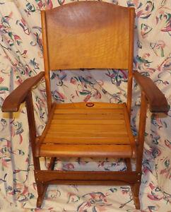 Details about Vintage Clements # 218 Canada Quebec Folding Rocking Chair