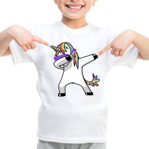 Dabbing Unicorn Einhörner Einhorn T-Shirt Kinder Jungen Mädchen Cute T-StückTop
