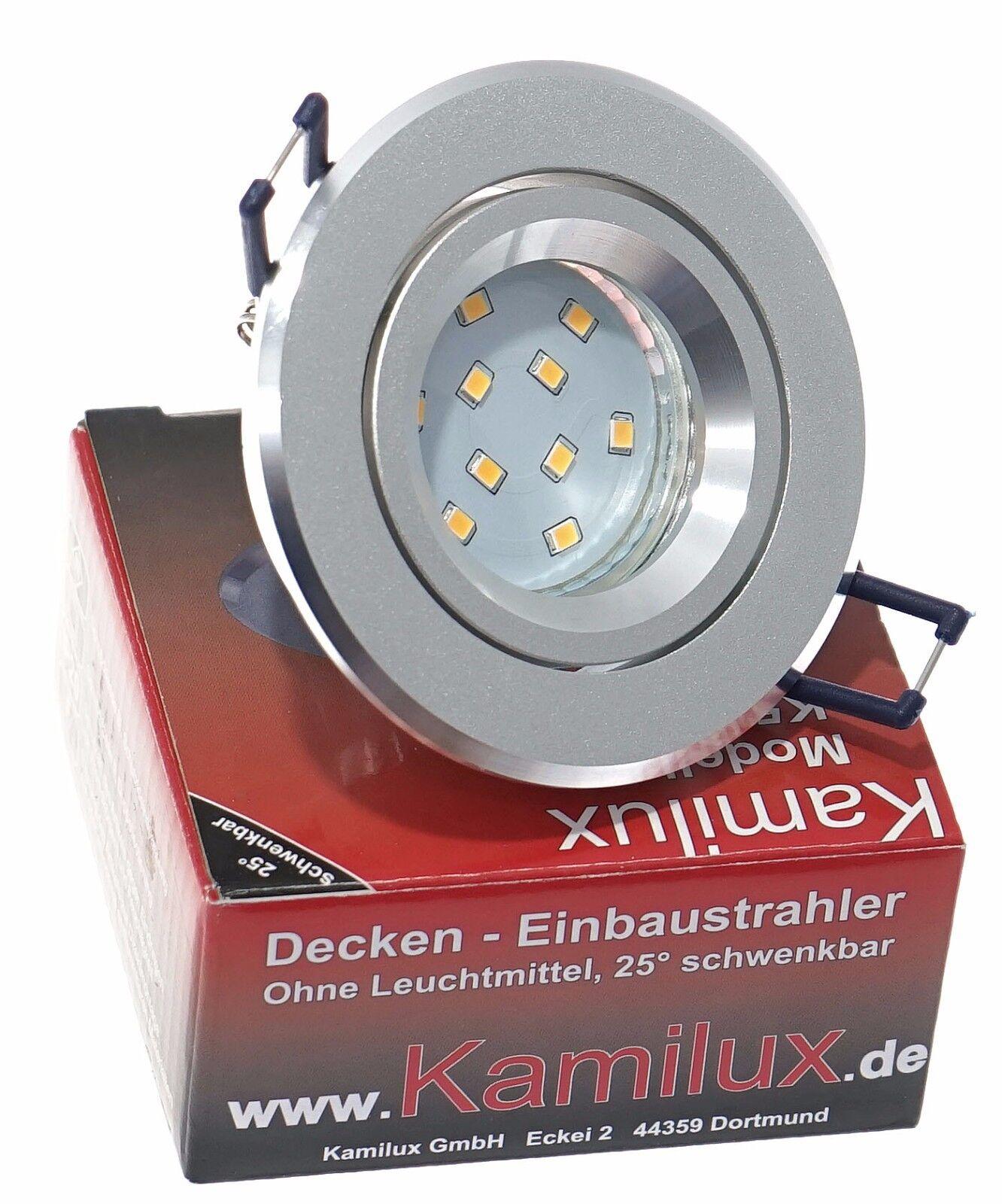 5x-15x SET K5042 230V 5W SMD LED GU10 Einbauleuchte Deckenstrahler Deckenspot