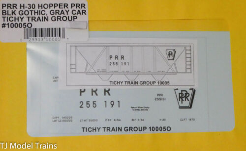 O Scale Gray Car Tichy Train Group O #10005O PRR H-30 Hopper Blk Gothic