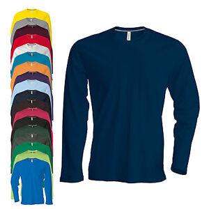 NEU-Kariban-Herren-Longsleeve-Rundhals-T-Shirt-Langarm-S-4XL-19-Farben