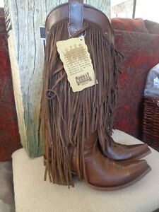 Corral Boots Sierra Tan Fringe Tall Top Western C2700 - Brown Size ...