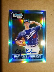 2006-Bowman-Chrome-Clayton-Kershaw-SP-Refractor-Auto-RC-44-500-Rookie-Autograph