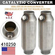 2x 25 Inch Universal Spun Catalytic Converter High Flow Stainless Steel 410250