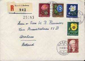 SUISSE-SWITZERLAND-SCHWEIZ-1958-Mi-663-7-034-Pro-Juventute-034-set-on-FDC