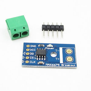 2PCS Type K MAX6675 SPI Interface Thermocouple Temperature For Arduino