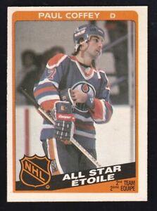 1984-85-O-Pee-Chee-Paul-Coffey-All-Sar-217-Edmontion-Oilers-NRMINT-MINT