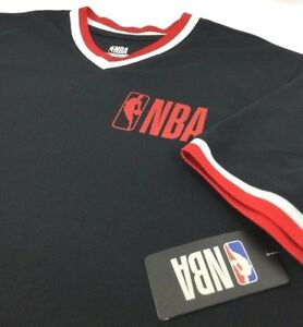 7d5e56b5bed0 NBA Men s V-Neck Jersey Shirt Short Sleeve Black Red White NEW Large ...