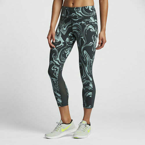 NIKE Power EPIC LUX Running Tights Yoga Pants 812038 364 seaweed green