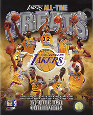 LOS ANGELES LA LAKERS ALL TIME GREATS 8X10 TEAM COMPOSITE PHOTO CHAMBERLAIN