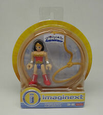"""DC SUPER FRIENDS WONDER WOMAN IMAGINEXT FISHER PRICE  DOLL 3"""" TOY"""