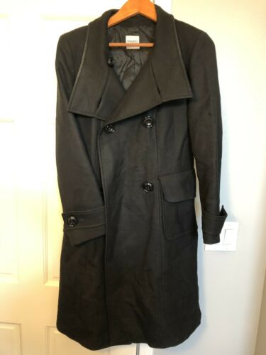 Cinzia Rocca Black Wool Coat Size 8 Rare Made In B