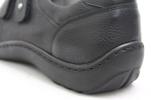 Waldläufer Schuhe schwarz echt Leder Wechelfußbett Schuhweite H Klettverschluss