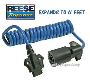 REESE 7 WAY to 4 WAY FLAT ADAPTER TRAILER WIRING HARNESS