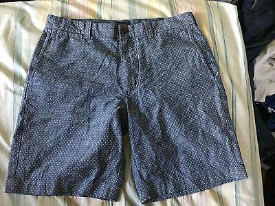"Crew Chambray Polka Dot Stanton Shorts Waist 32 Inseam 9"" $99.50 Hard-Working J Shorts"