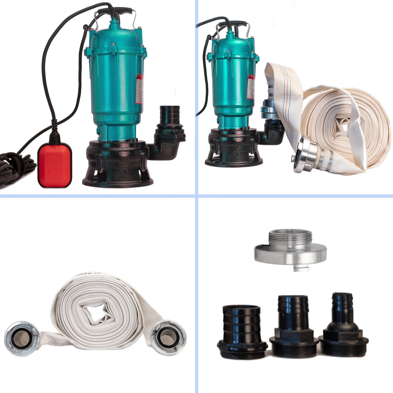 Pumpe Fäkalienpumpe Tauchpumpe Schmutzwasserpumpe 20m - 40m C-Schlauch 24000l H