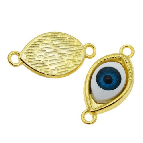 Legierung Böse Augen Blaue Augen Charme Anhänger DIY Handwerk 20 Stück Gold