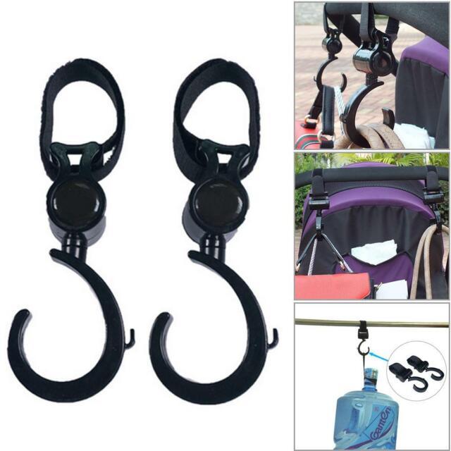 Stroller Hook Multifunctional 360 Basket Strap Bag Hanger Grip Accessories Baby