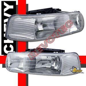 1999 2002 chevy silverado 1500 2500 00 06 tahoe suburban headlights rh lh ebay