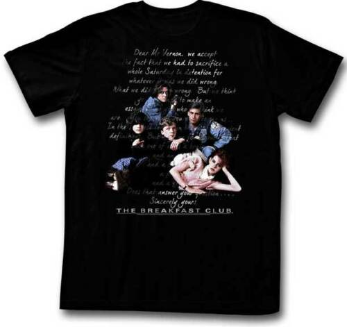 The Breakfast Club The Letter Adult T Shirt Classic Movie