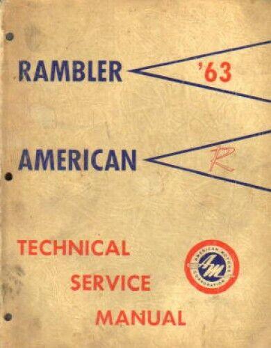 1963 AMC Rambler Technical Service Manual