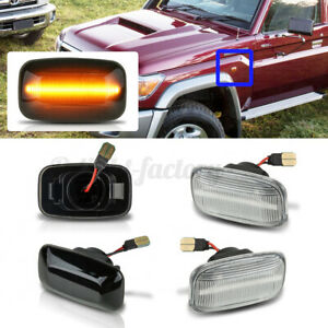 LED Side Marker Turn Signal Indicator Light For Toyota Land Cruiser 70 80    !*