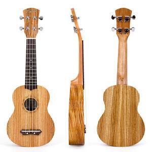 Kmise 21 Inch Soprano Ukulele Uke Hawaii Guitar Musical Instruments Zebrawood Ebay