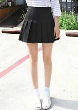black pleated tennis skirt cute mini korean a line skirt