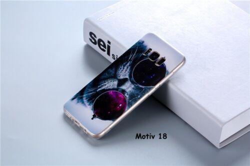 protección bolsa reverso Samsung s8 Móvil funda protectora funda s9 corazón boca gato #h7