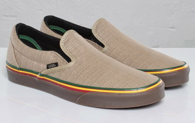 faf01430e83f93 Vans Classic Slip-On (HEMP) Irie Incense  VN-0LYF1ZG  rare vegan ...