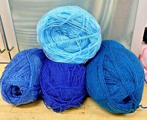 Knitting-Crochet-Yarn-400g-Blues-Royal-Turquoise-Corn-Crafts-7A